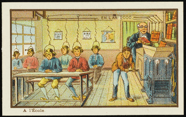 Distribution Drawing - A Futuristic Teaching Machine by Mary Evans Picture Library