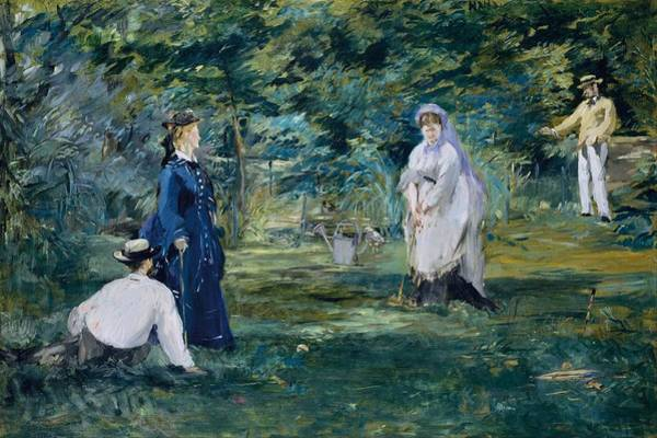 Wall Art - Painting - A Game Of Croquet by Edouard Manet