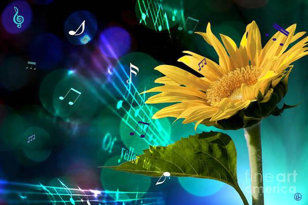 Cheery Digital Art - A Garden Symphony by Linda Lees