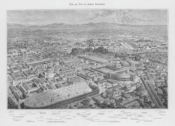 Reconstruction Drawing - A General View Of Rome by Mary Evans Picture Library