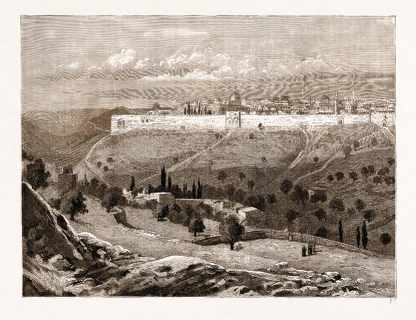 Bethlehem Drawing - A General View Of The City Of Jerusalem by Litz Collection