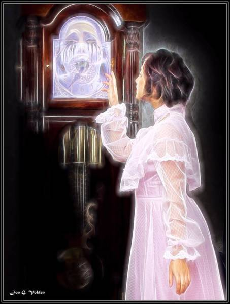 Painting - A Ghost In The Clock by Jon Volden