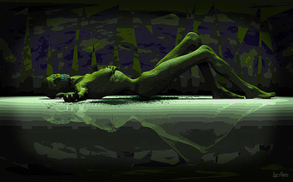 Digital Art - A Ghoul All Alone by Matt Lindley