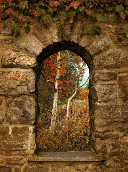 Archway Photograph - A Gimpse Of Autumn by Jessica Jenney