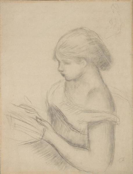 Painting - A Girl Reading  by Celestial Images