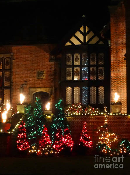 Photograph - A Glimpse Of Stan Hywet Hall At Christmas by Gena Weiser