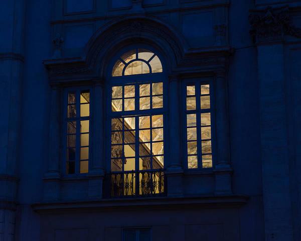 Photograph - A Glimpse Through A Window - Piazza Navona Rome Italy by Georgia Mizuleva
