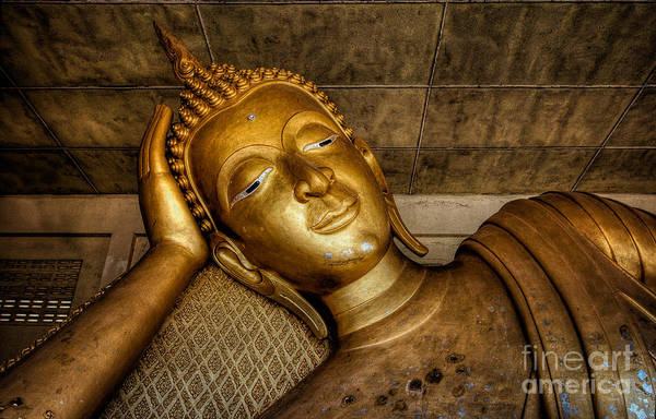Gold Photograph - A Golden Buddha  by Adrian Evans
