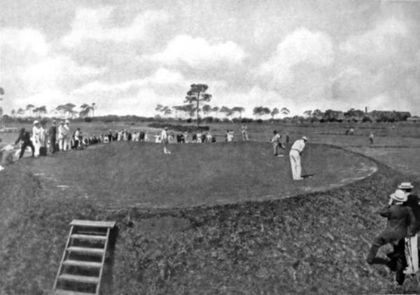 Difficult Photograph - A Golf Green On A Plateau by Underwood Archives