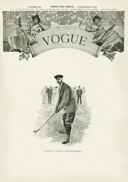 Golf Club Photograph - A Golfer In A Norfolk Jacket by Artist Unknown
