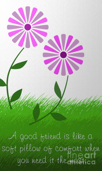 Digital Art - A Good Friend Poem And Abstract 5 by Andee Design