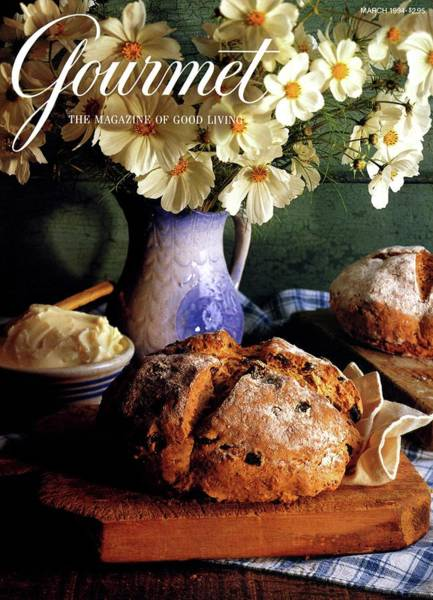 Bread Photograph - A Gourmet Cover Of Bread And Flowers by Romulo Yanes