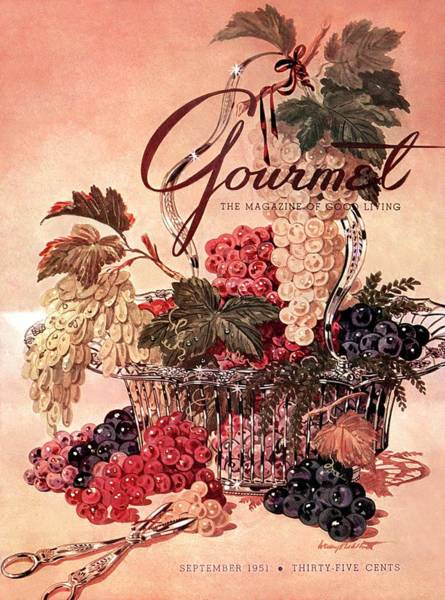 Food Photograph - A Gourmet Cover Of Grapes by Henry Stahlhut