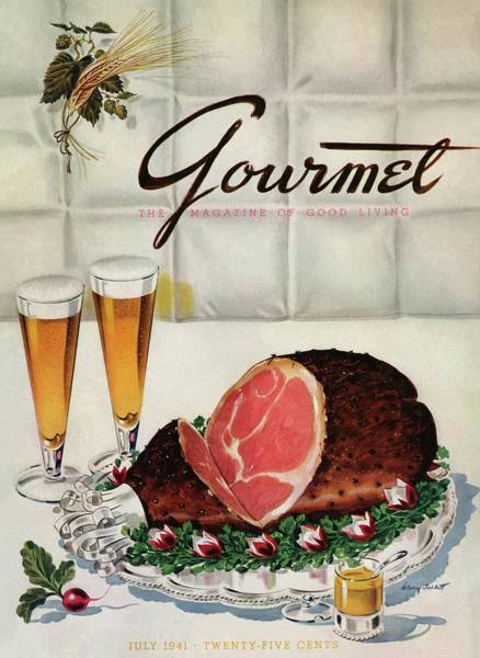 Alcoholic Drink Photograph - A Gourmet Cover Of Ham by Henry Stahlhut
