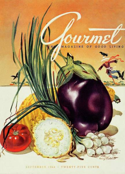 Food Photograph - A Gourmet Cover Of Vegetables by Henry Stahlhut