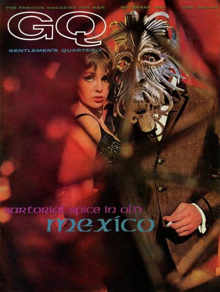 Old People Photograph - A Gq Cover Of A Model Wearing A Mask by Chadwick Hall