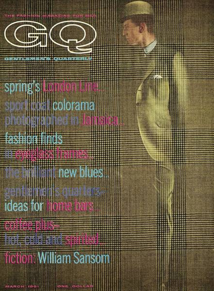 Old People Photograph - A Gq Cover Of Glen Plaid by Henry Haberman