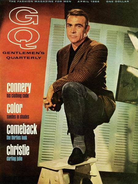Retro Photograph - A Gq Cover Of Sean Connery by David Sutton