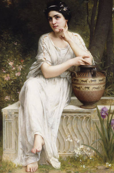 Druid Wall Art - Painting - A Grecian Beauty by Charles Amable Lenoir