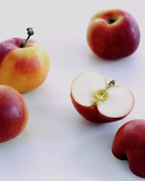 Fresh Photograph - A Group Of Apples by Romulo Yanes