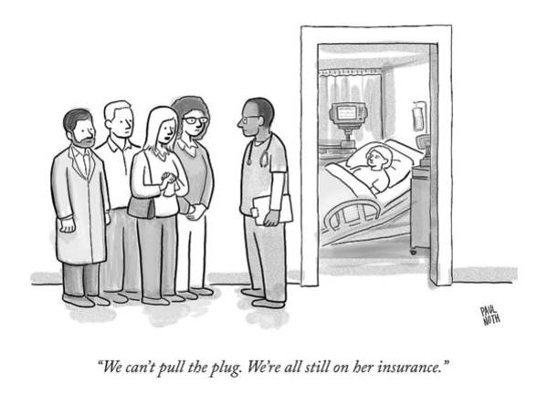 Group Of People Drawing - A Group Of People Talk To A Doctor by Paul Noth