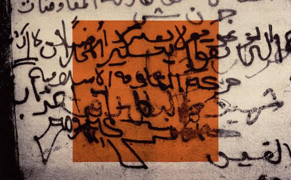 Inscription Photograph - A Gun For Palestine, 1992 Silkscreen On Canvas by Laila Shawa