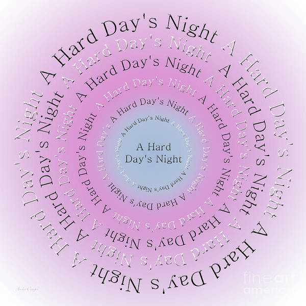 Digital Art - A Hard Day's Night 1 by Andee Design