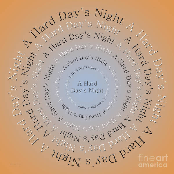 Digital Art - A Hard Day's Night 3 by Andee Design