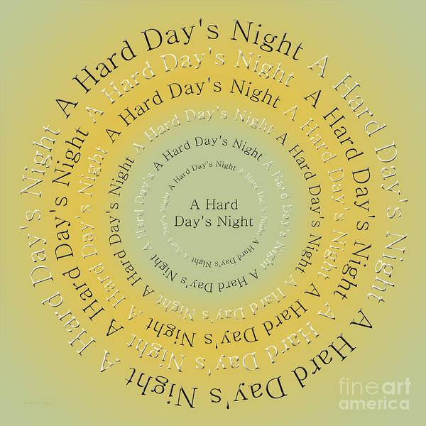 Digital Art - A Hard Day's Night 4 by Andee Design