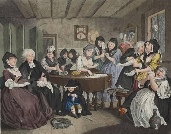 Parody Drawing - A Harlots Progress, Plate Vi by William Hogarth