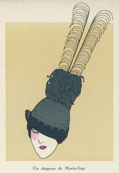 Angle Drawing - A Hat By Maria-guy With A Very  Long by Mary Evans Picture Library