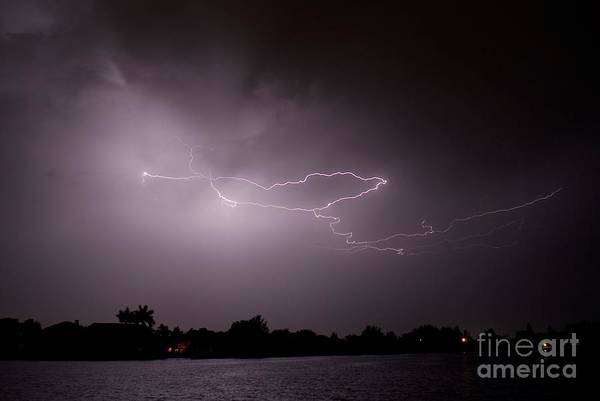 Electric Storm Photograph - A Heart From Heaven by Quinn Sedam