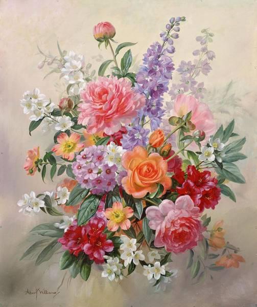 Wall Art - Painting - A High Summer Bouquet by Albert Williams