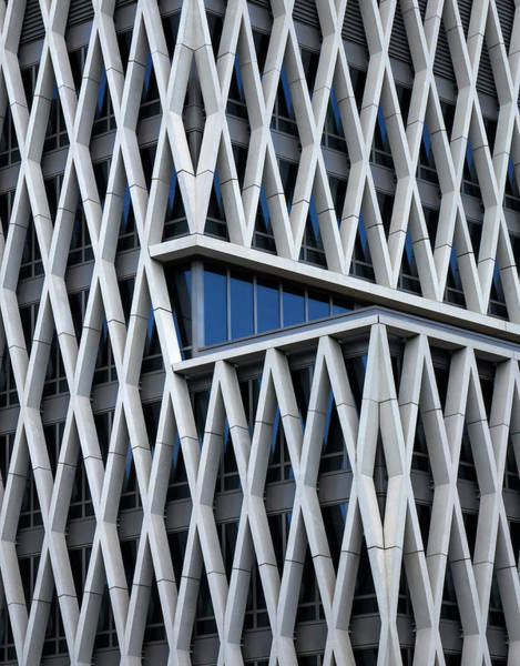 Grid Photograph - A Hint Of Blue by Jef Van Den
