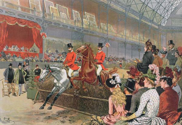 Emmanuel Wall Art - Painting - A Horse Race by Adrien Emmanuel Marie