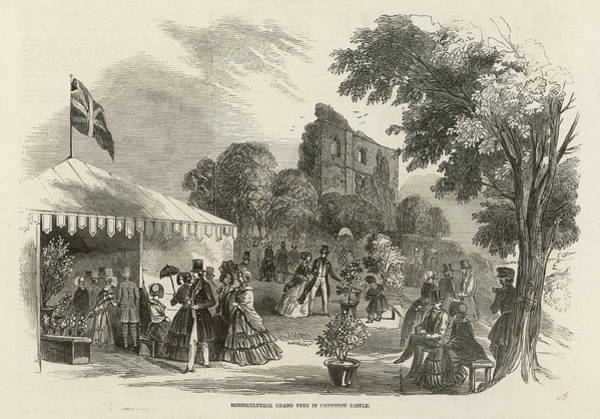 New South Wales Drawing - A Horticultural Fete Taking Place by  Illustrated London News Ltd/Mar