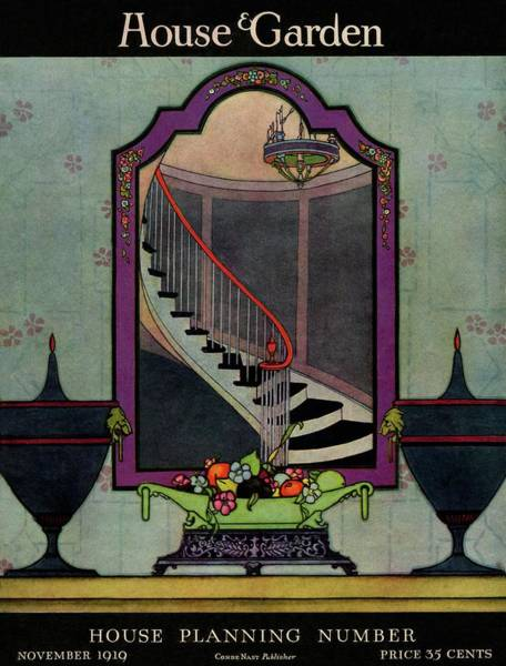 Mirror Photograph - A House And Garden Cover Of A Staircase by Harry Richardson