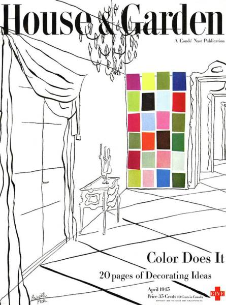 Window Photograph - A House And Garden Cover Of Color Swatches by Priscilla Peck
