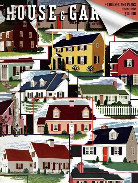 Suburban Photograph - A House And Garden Cover Of Suburban Houses by Robert Harrer