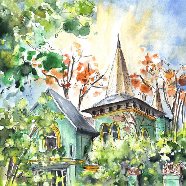 Painting - A House In Our Street In Budapest by Miki De Goodaboom