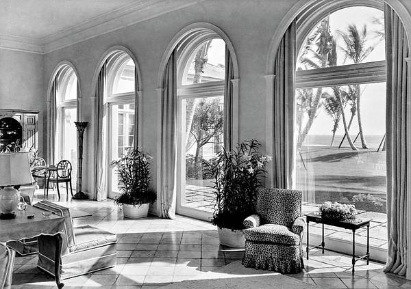 Window Photograph - A House In Palm Beach by Samuel H. Gottscho