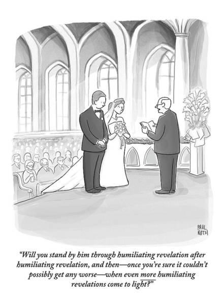 Affair Drawing - A Husband And Wife Are Getting Married by Paul Noth