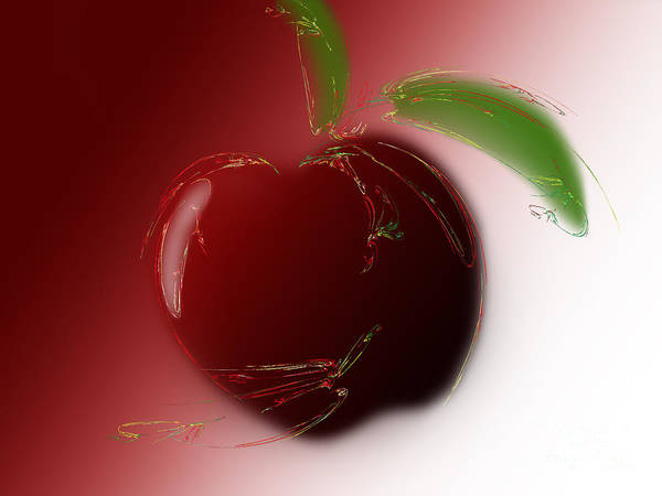 Pleasing Digital Art - A Is For Apple 4 by Andee Design