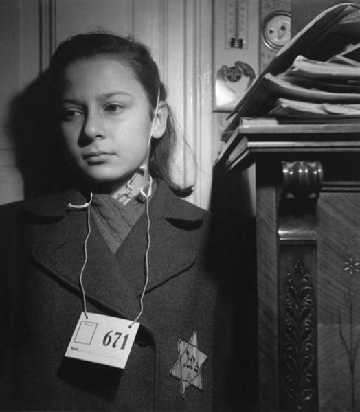Concentration Camp Photograph - A Jewish Girl In Prague, 1942 by Jan Lukas