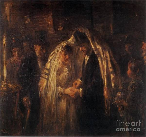 Painting - A Jewish Wedding by Celestial Images