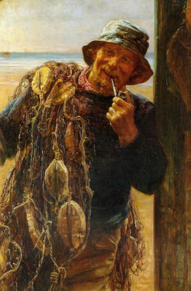 Digital Art - A Jovial Fisherman by Fred Morgan