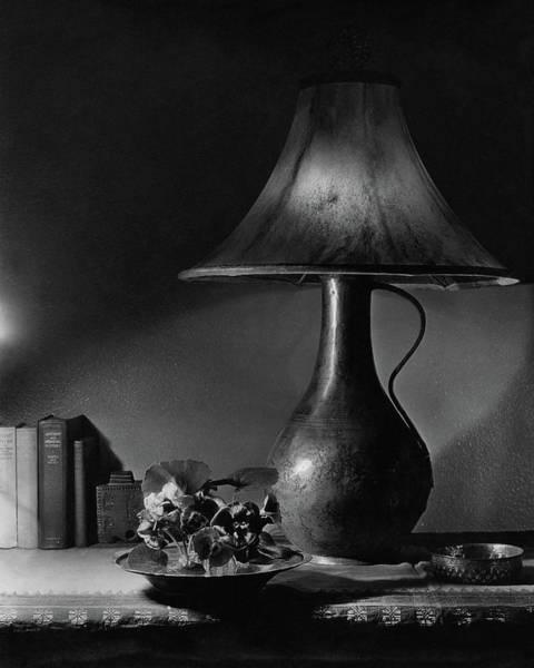 Jug Photograph - A Jug Lamp by Joseph B. Wurtz