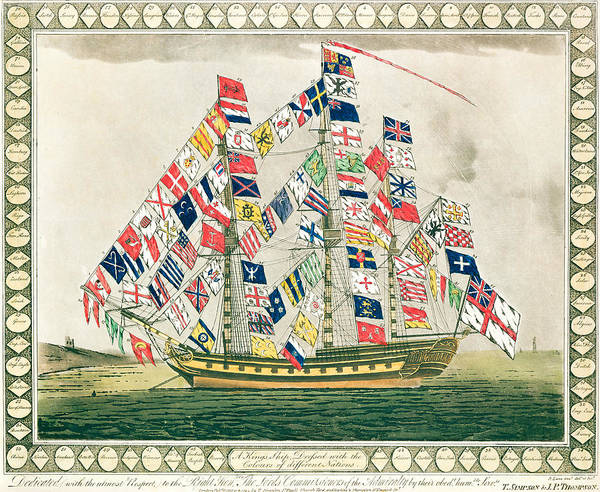 Identity Painting - A King S Ship Dressed With The Colours Of Different Nations 6th October 1794 by English School