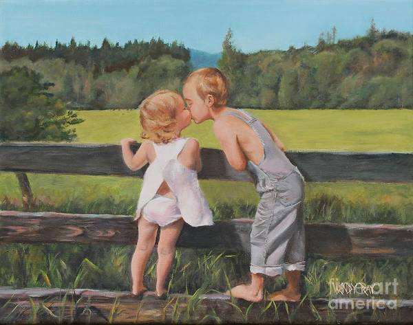 Painting - A Kiss For Little Sister by Wendy Ray