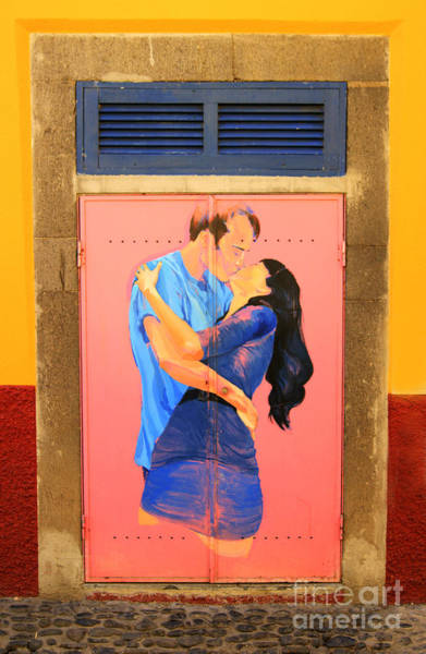 Photograph - A Kiss In The Doorway by David Birchall